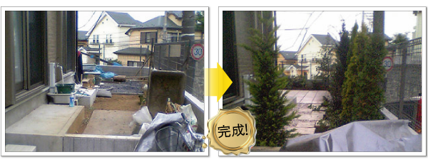 テラスを増設-神奈川で造園、エクステリア工事なら鈴木造園にお任せ下さい。造園、植栽、神奈川・東京の庭施工、坪庭・垣根施工